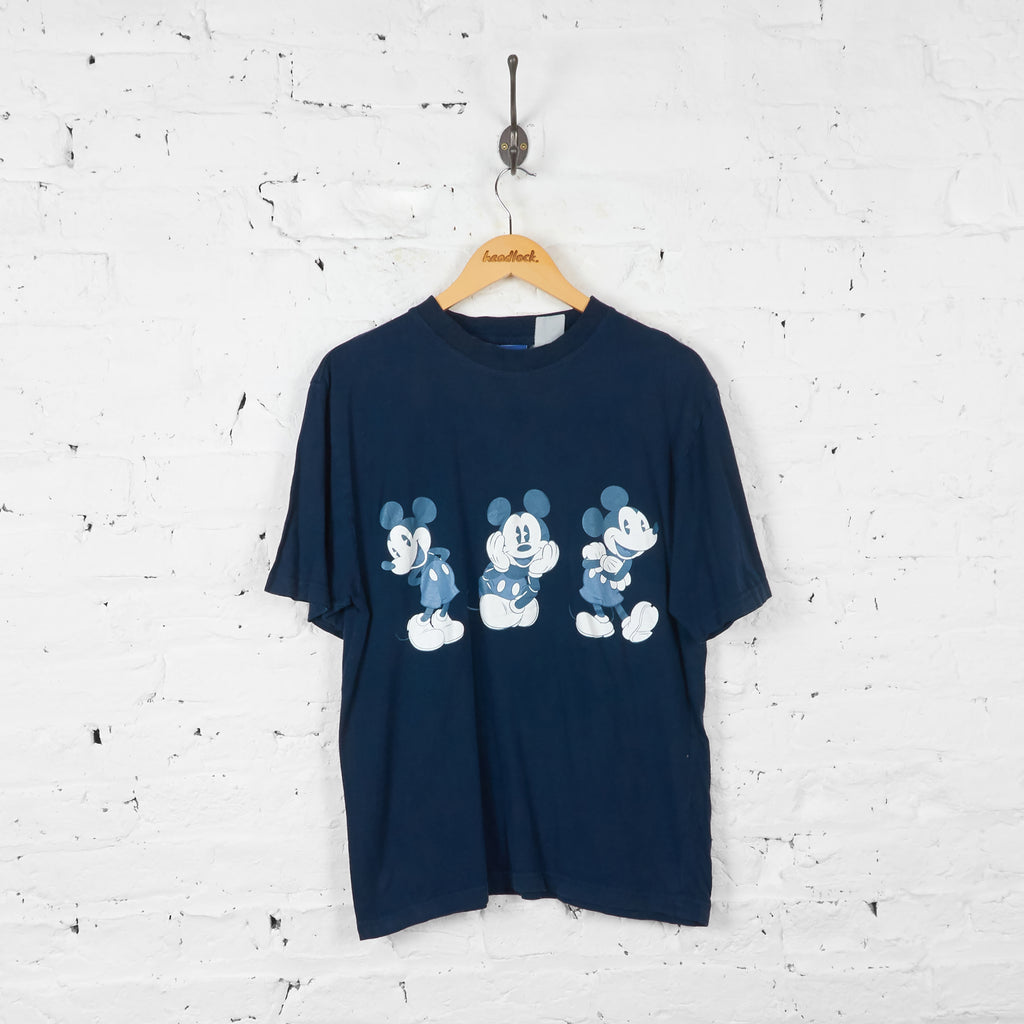Vintage Mickey Mouse T-shirt - Navy - M