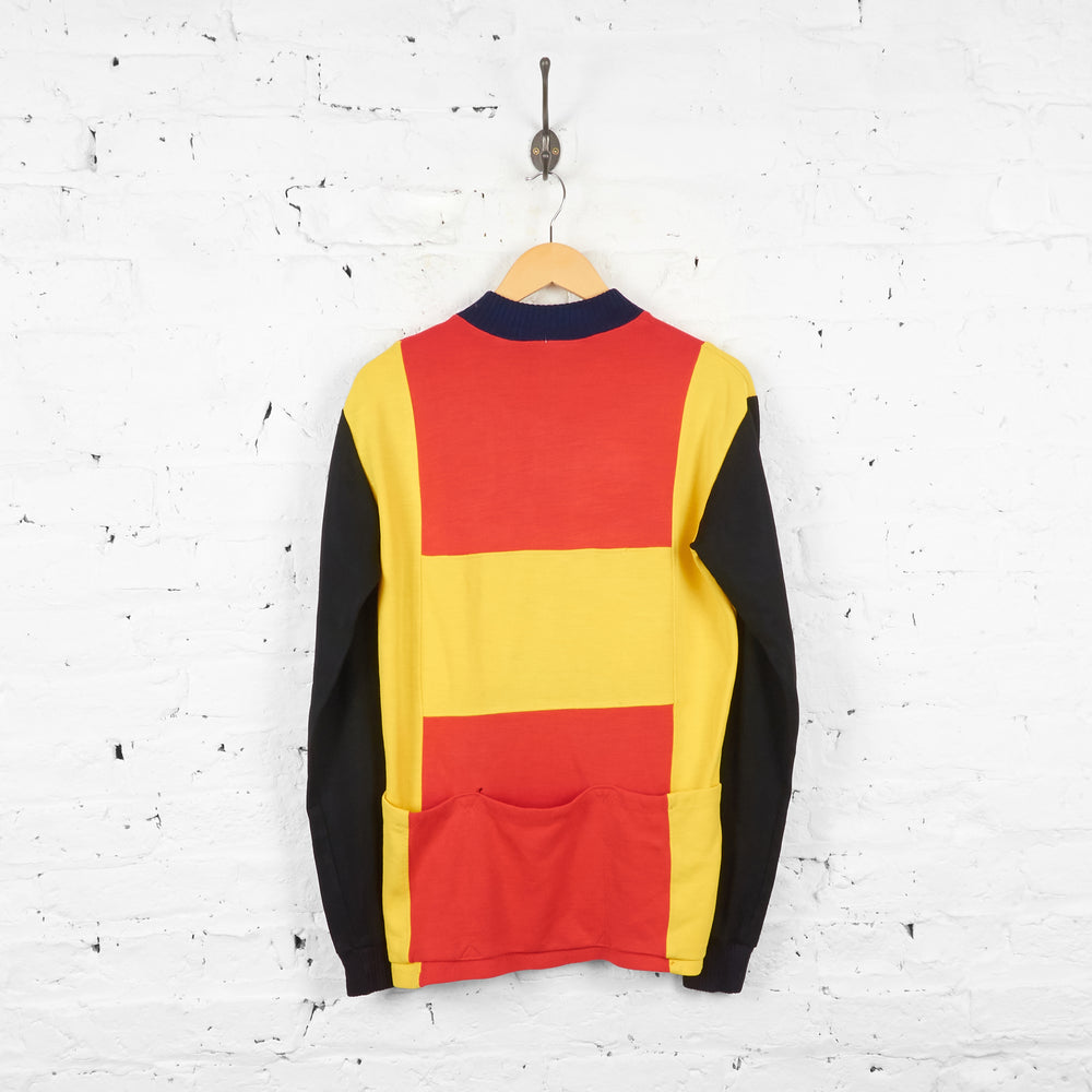 VSDC Dreux Knitted Cycling Top Jersey - Red/Yellow - L - Headlock