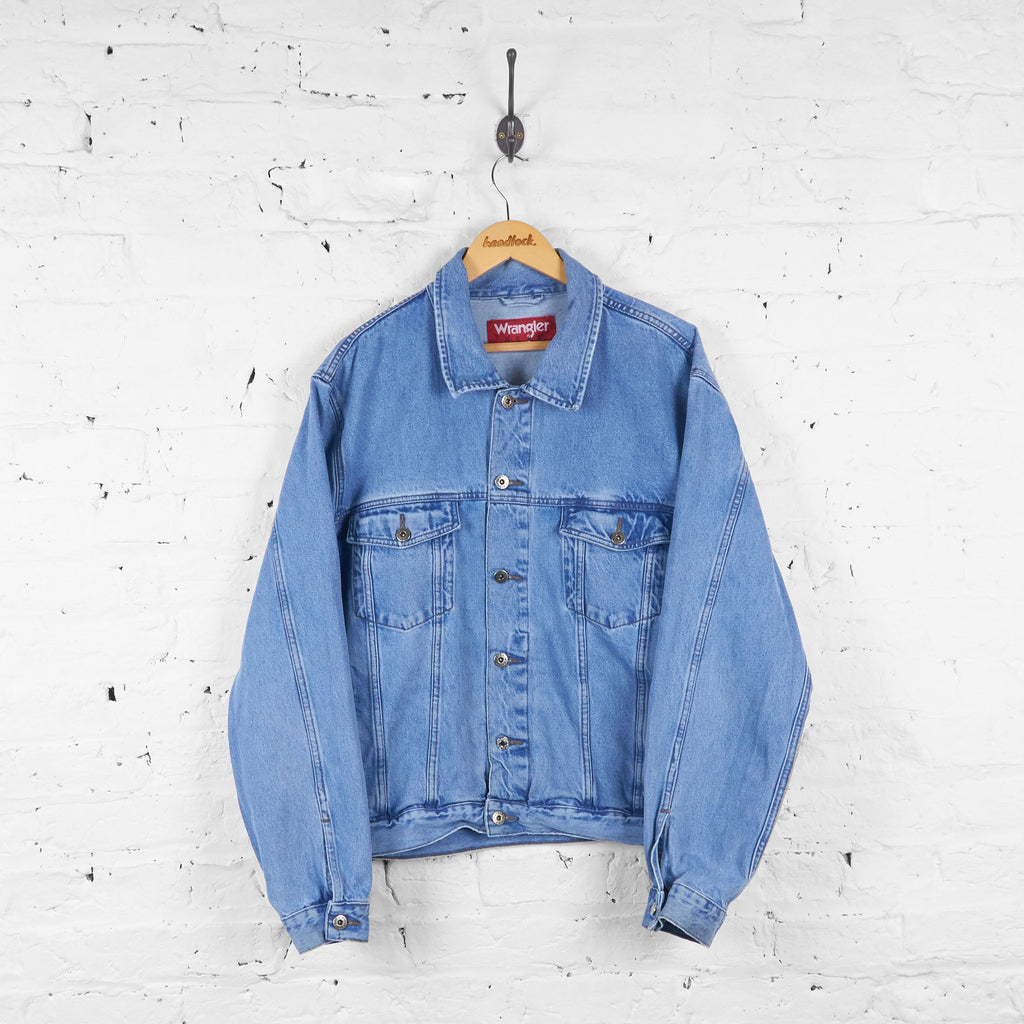 Wrangler Hero Denim Jacket - Blue - XL - Headlock