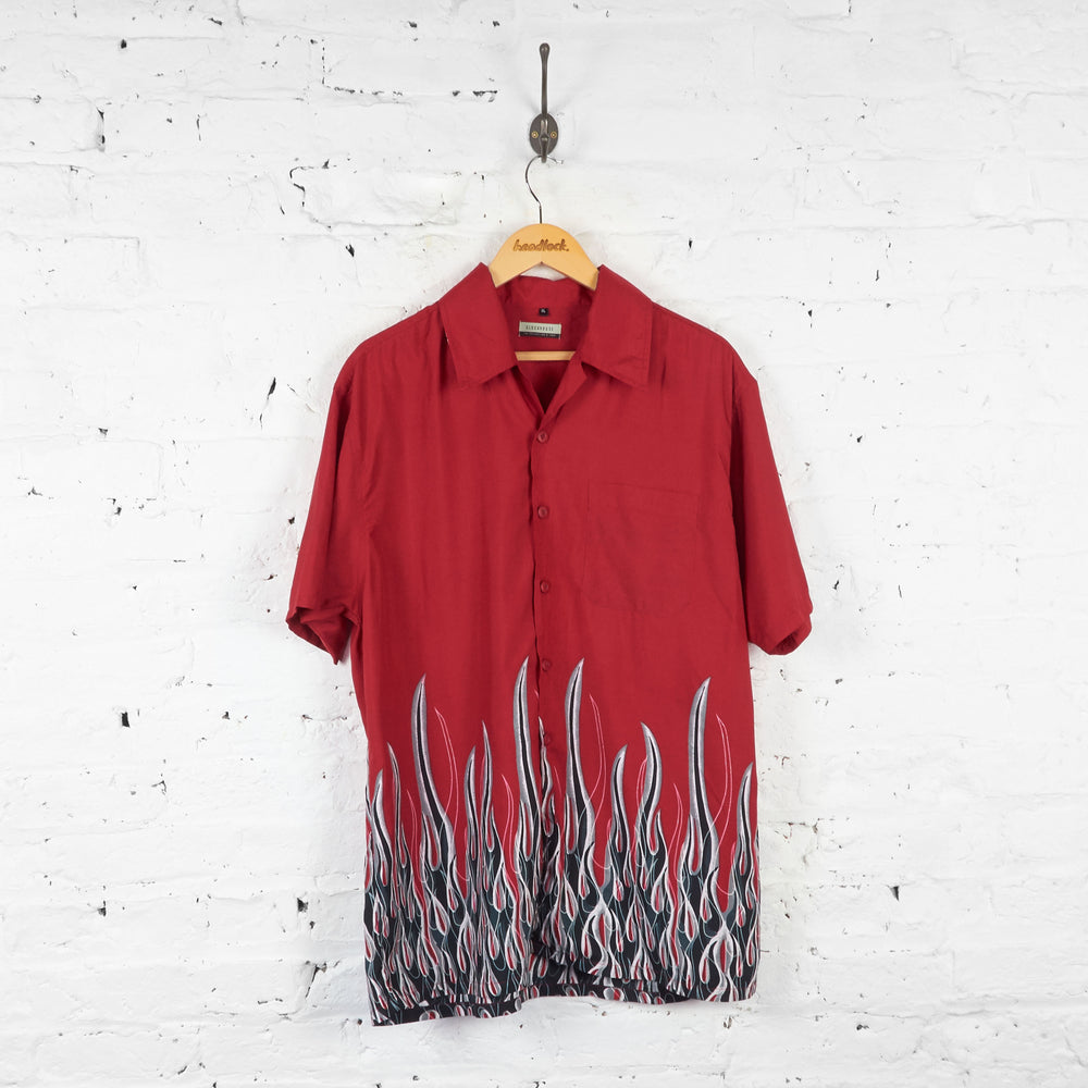 Vintage Flames Shirt - Red - XL