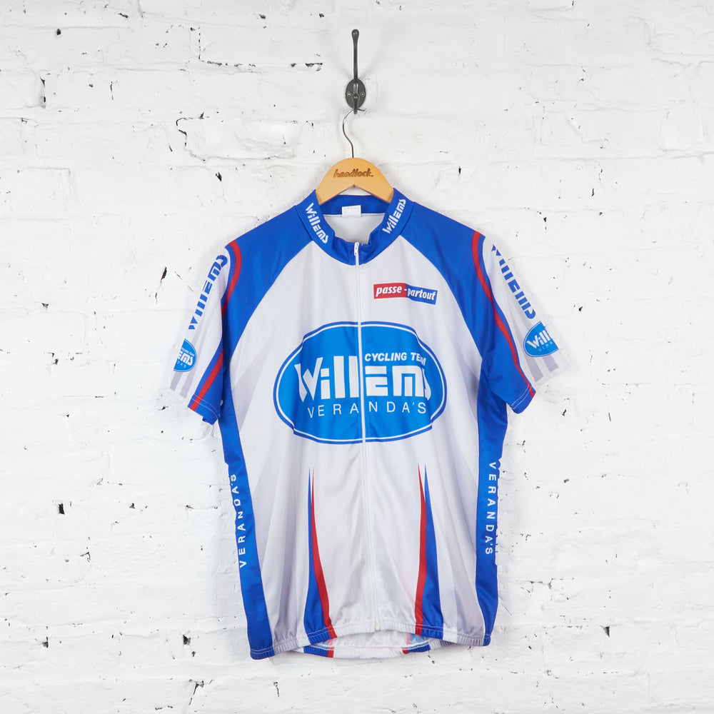 Willems Verandas Passe Partout Cycling Jersey - Grey/Blue - XXL