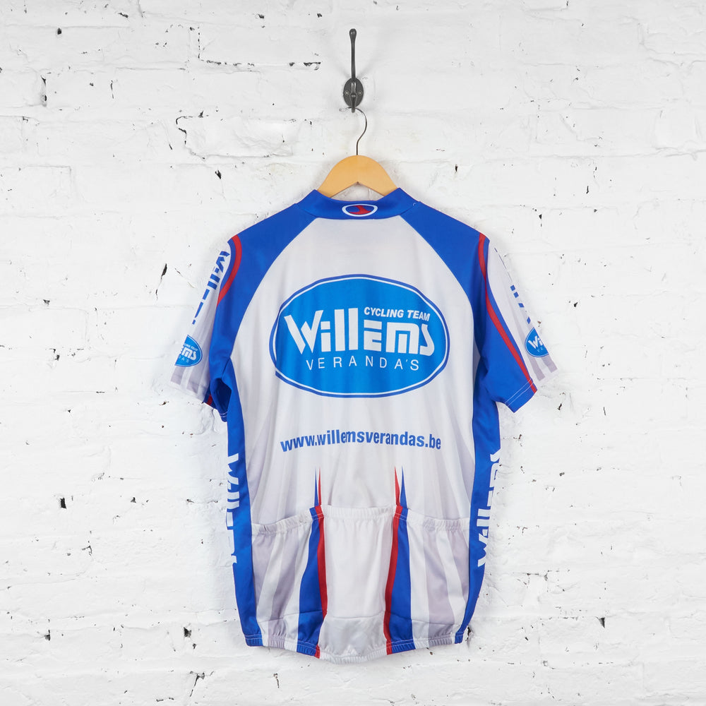 Willems Verandas Passe Partout Cycling Jersey - Grey/Blue - XXL - Headlock