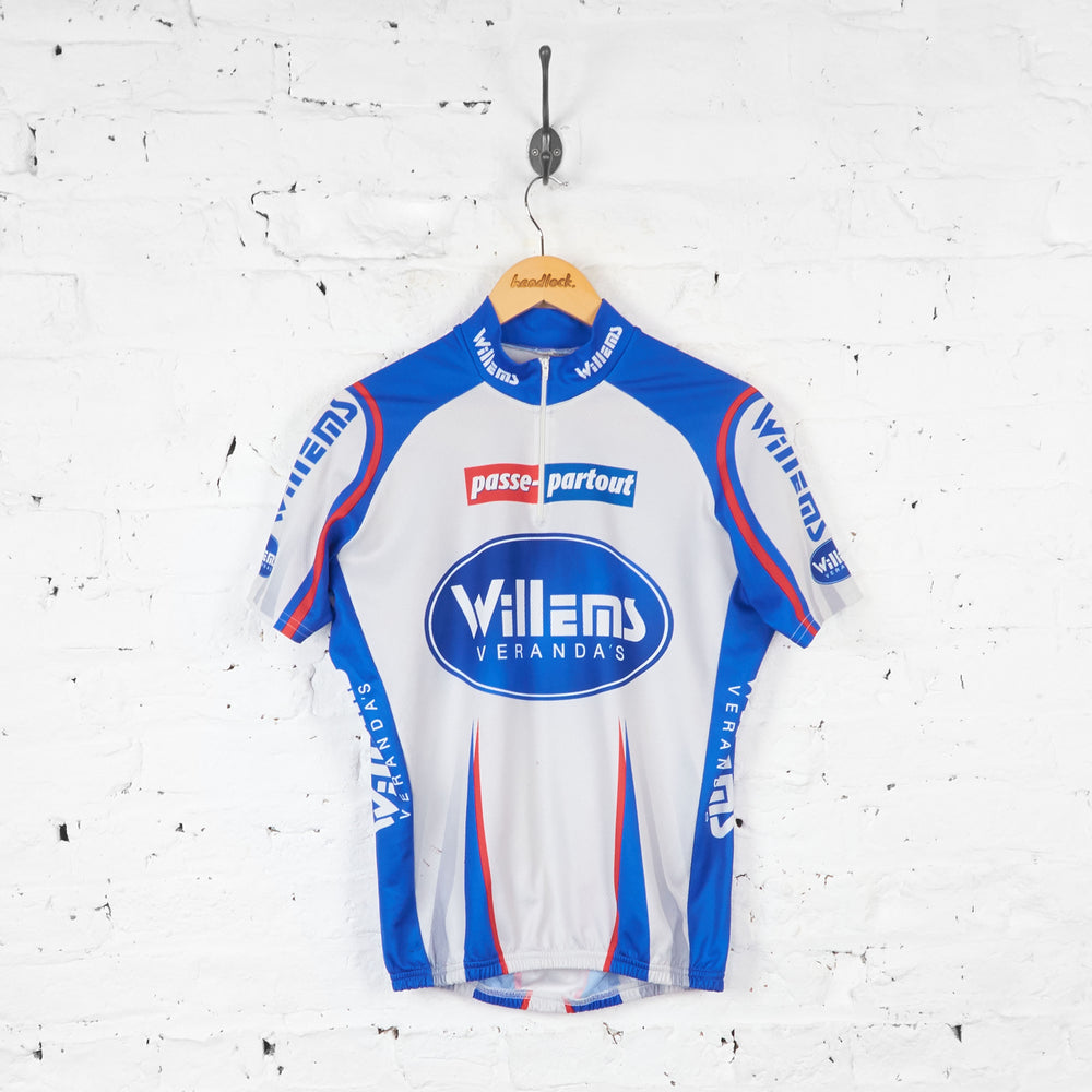Willems Verandas Passe Partout Cycling Jersey - Grey/Blue - XL
