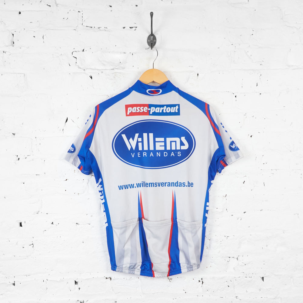 Willems Verandas Passe Partout Cycling Jersey - Grey/Blue - XL - Headlock