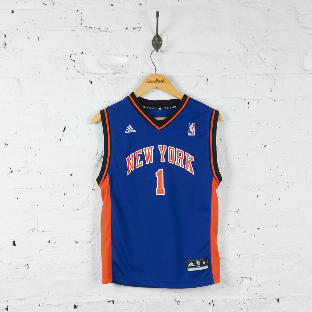 Vintage NBA New York Knicks Kids Jersey - Blue - M - Headlock