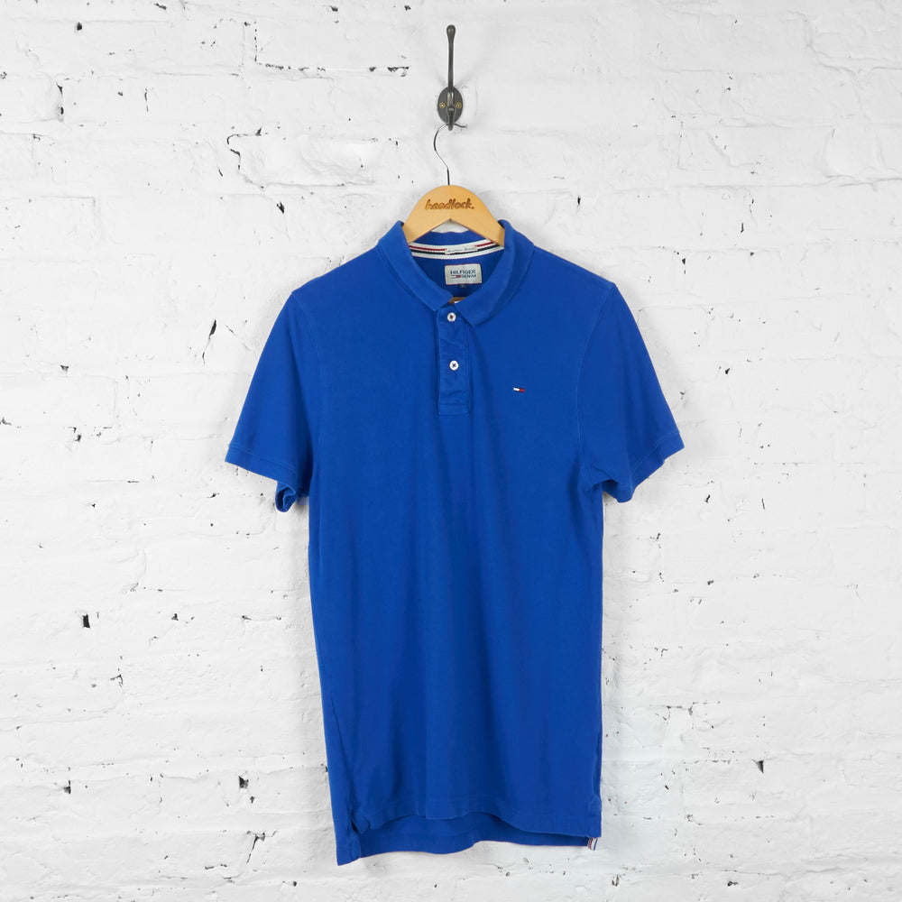 Vintage Tommy Hilfiger Polo Shirt - Blue - L