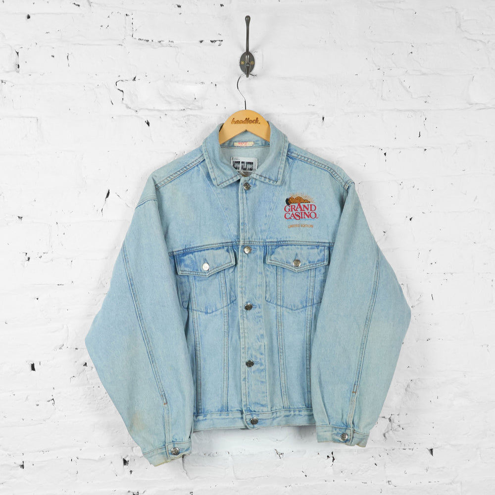 Vintage Grand Casino Wheel Of Fortune Denim Jacket - Blue - M - Headlock