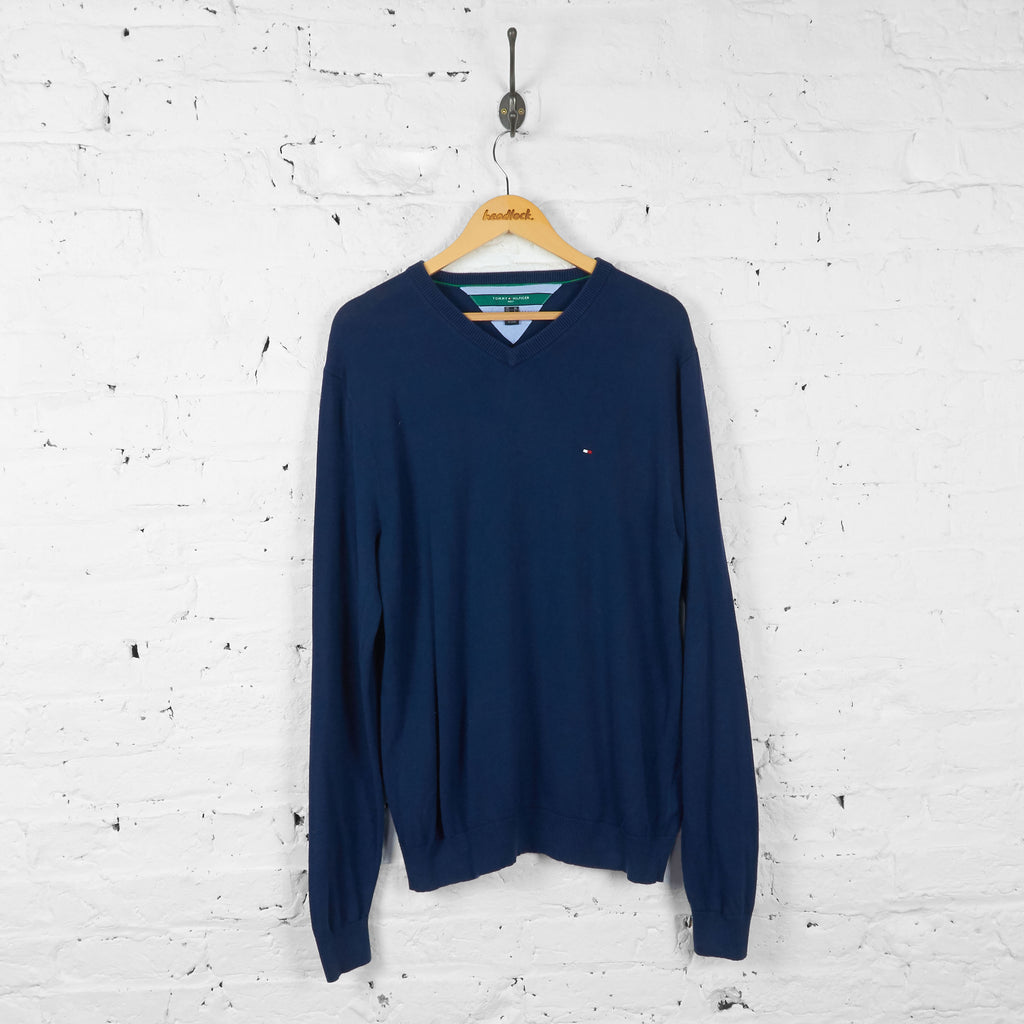 Vintage Tommy Hilfiger Golf Jumper - Navy - L
