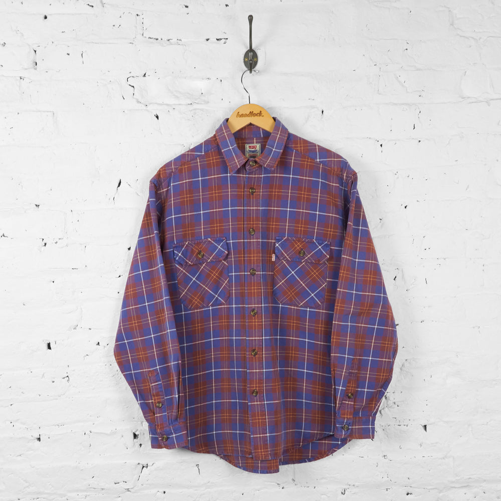 Vintage Levi's Checked Shirt - Blue - L - Headlock