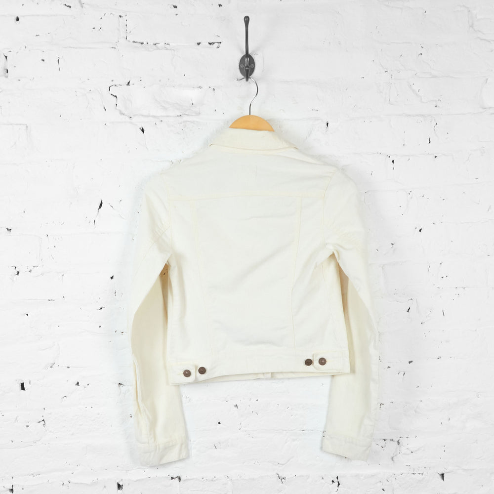 Vintage Levi's Cropped Women's Corduroy Jacket - Cream - S - Headlock