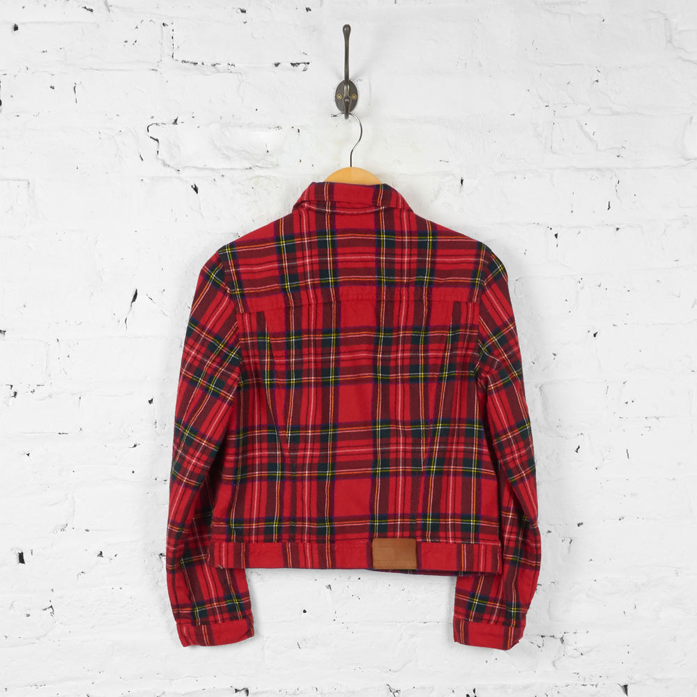 Womens Tommy Hilfiger 90s Tartan Check Jacket - Red - Womens M