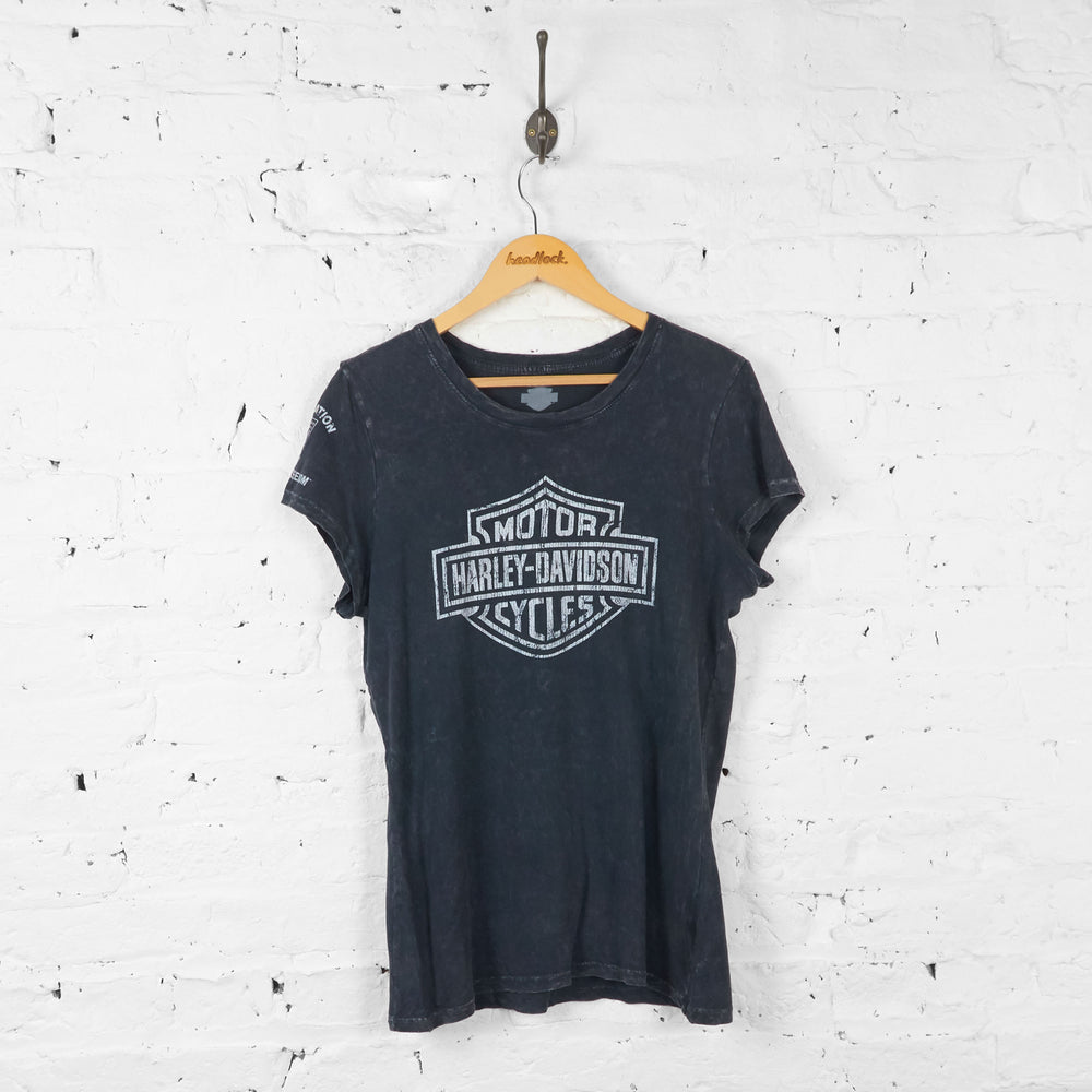 Womens Harley Davidson T Shirt - Black - Womens L - Headlock