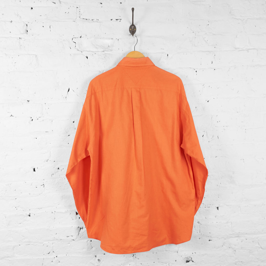 Vintage Tommy Hilfiger Shirt - Orange - XL