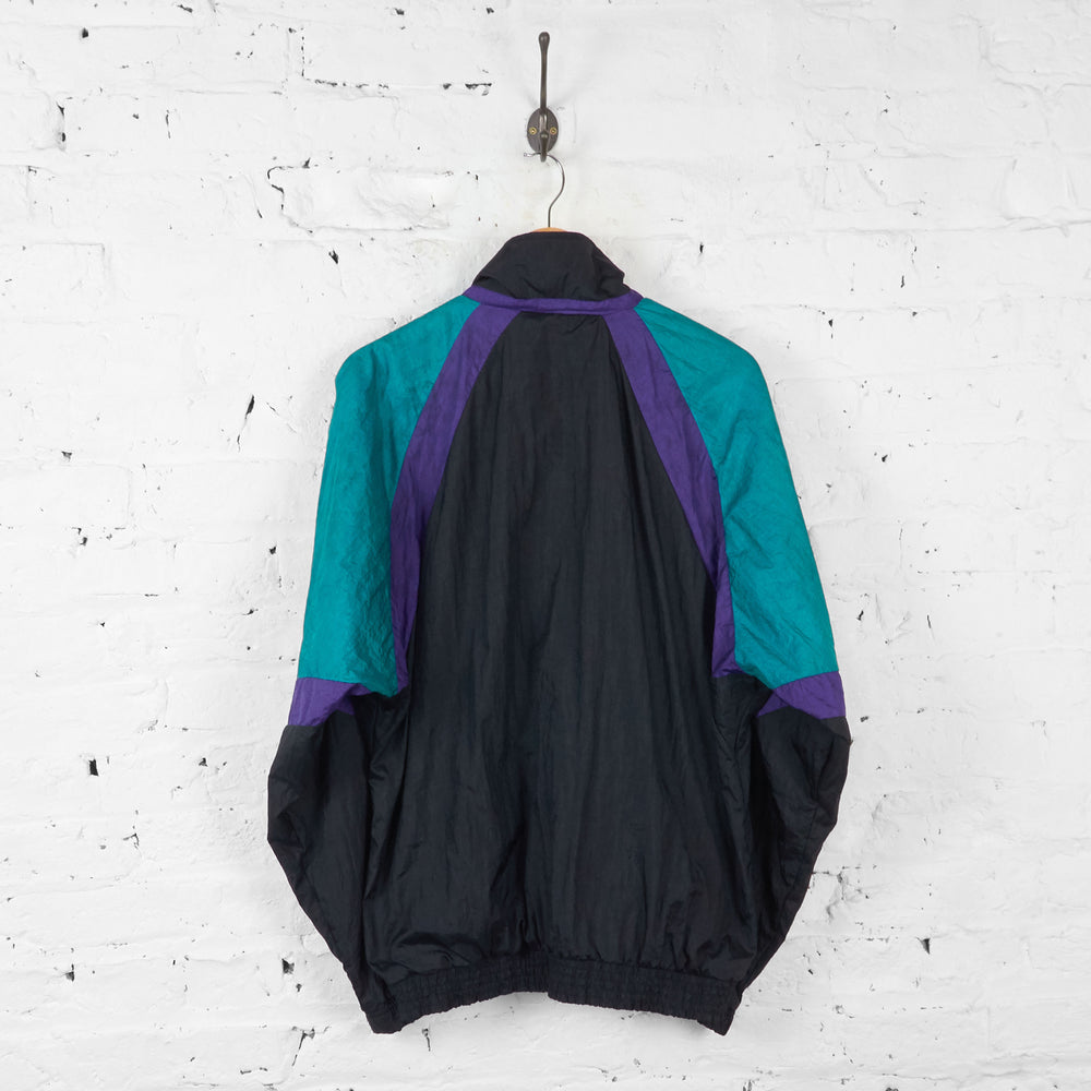 Vintage Sergio Tacchini Windbreaker Jacket - Black/Blue - L - Headlock