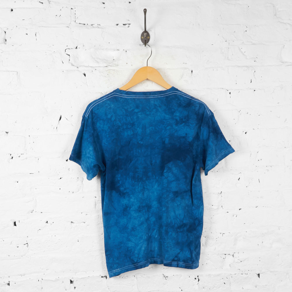 Vintage Kids Tie Dye Sting Ray T-shirt - Blue - XL