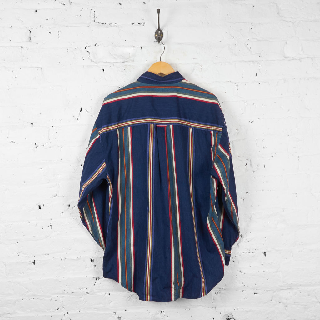 Vintage Ralph Lauren Chaps Striped Shirt - Blue - XL
