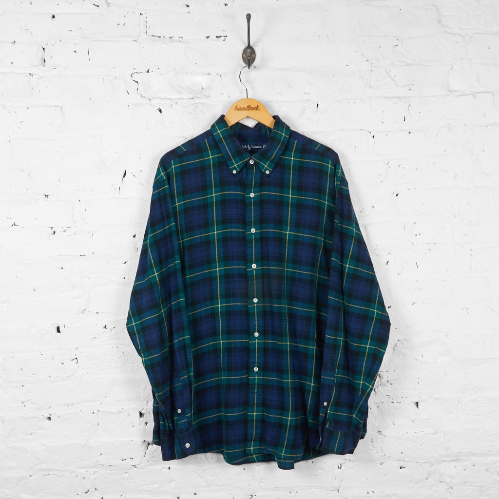 Vintage Ralph Lauren Checked Shirt - Blue/Green - XXL