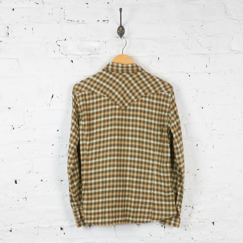 Vintage Women's Carhartt Checked Shirt - Brown - M