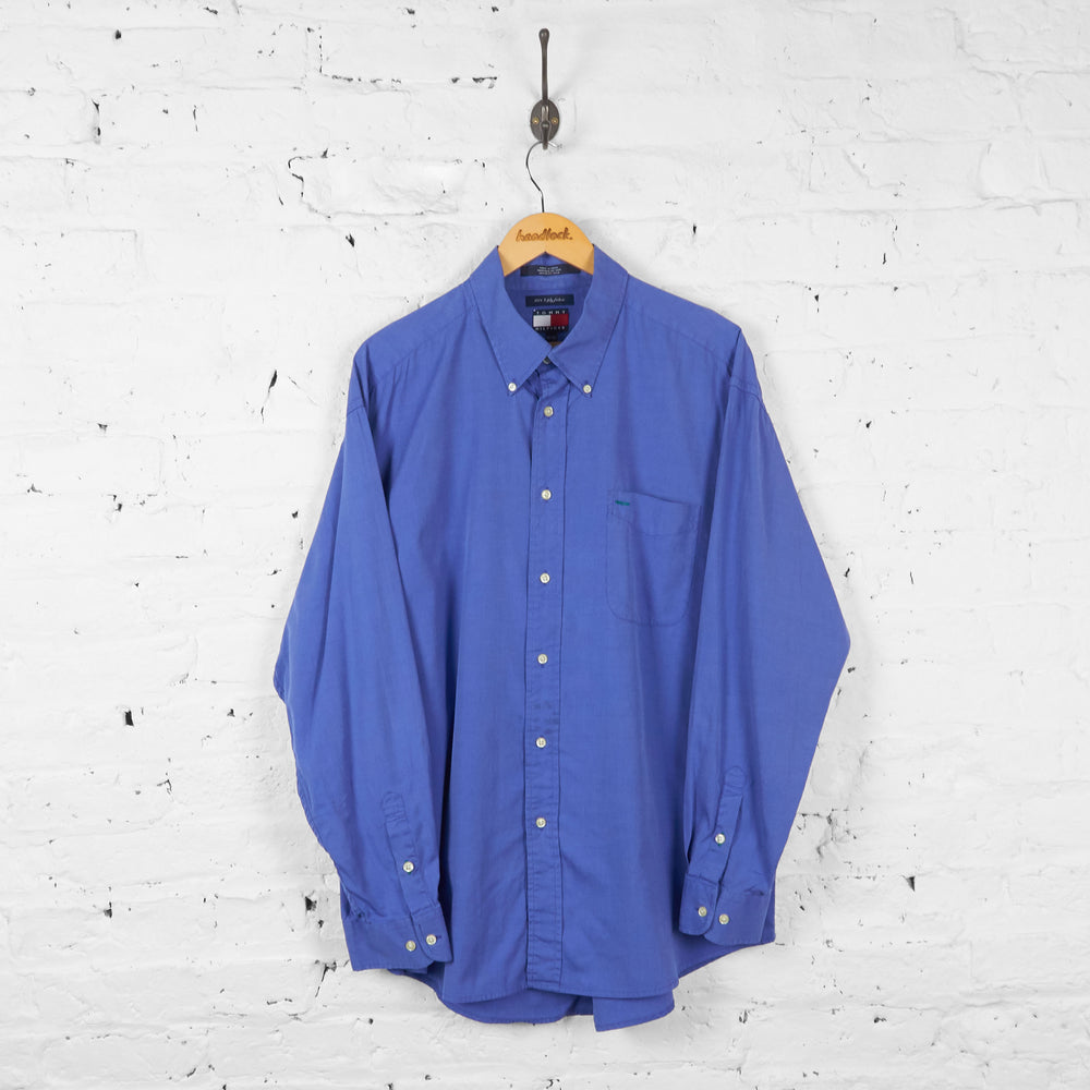 Vintage Tommy Hilfiger Shirt - Blue - XL