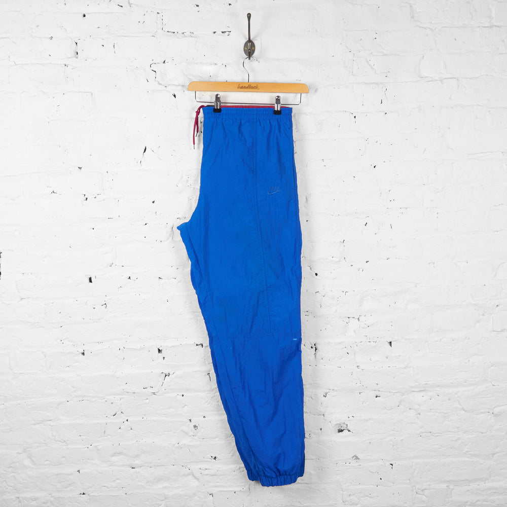 Vintage Nike Shell Tracksuit Bottoms - Blue - L - Headlock
