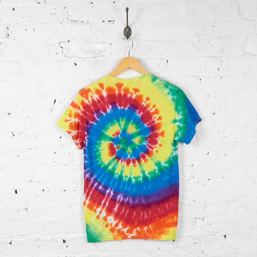 Vintage Tie Dye Ashland Falcons T-shirt - Yellow/Red - S