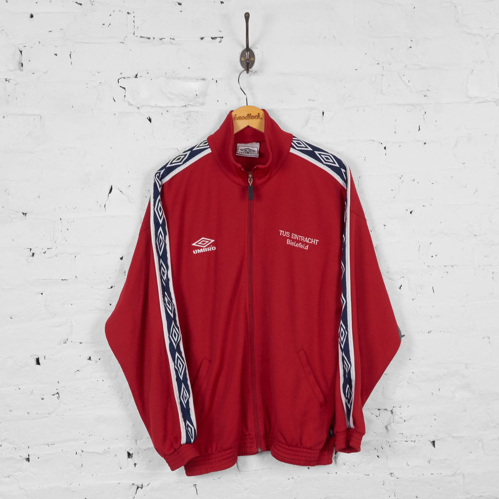 Vintage Umbro Tracksuit Top - Red - S