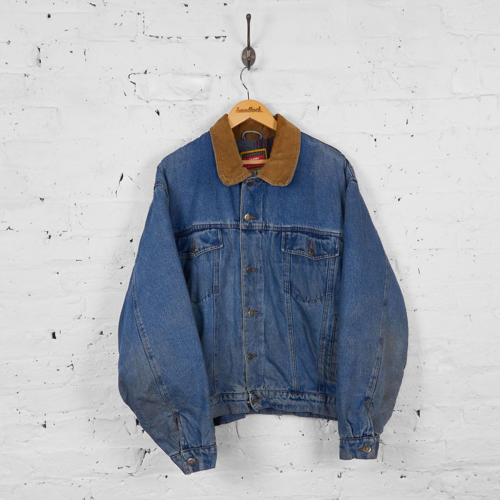 Vintage Wrangler Denim Jacket - Blue - L - Headlock