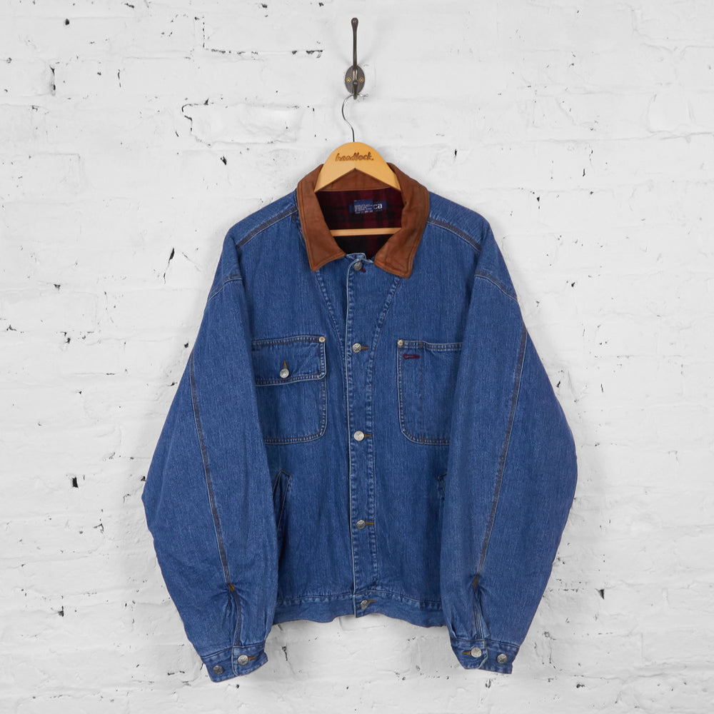 Vintage Nautica Denim Jacket - Blue - L