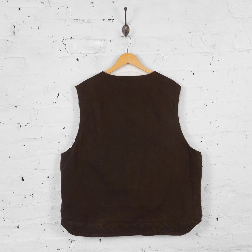 Vintage Sleeveless Carhartt Gilet - Brown - XXL