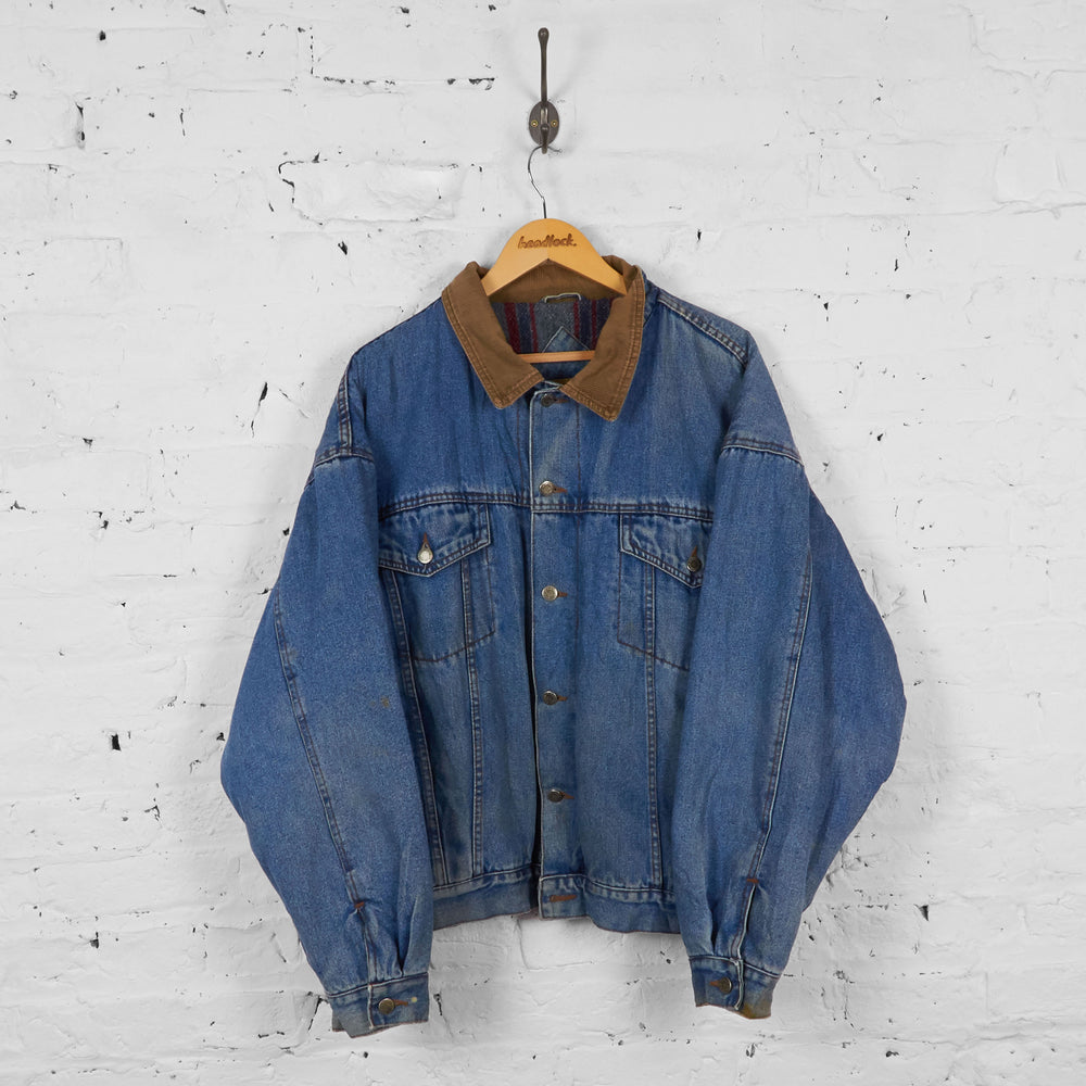 Vintage Wrangler Denim Jacket - Blue - XL