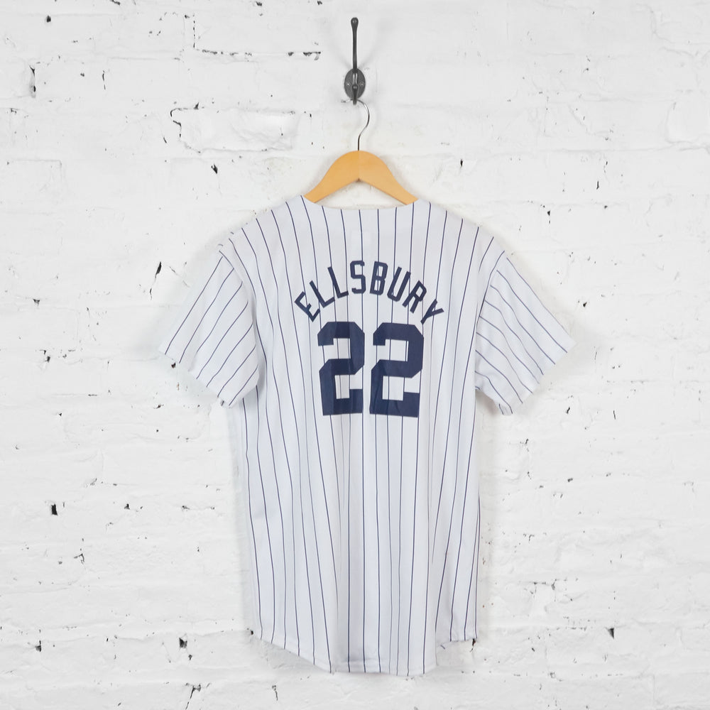 Vintage New York Yankees Baseball Jersey - White - XL