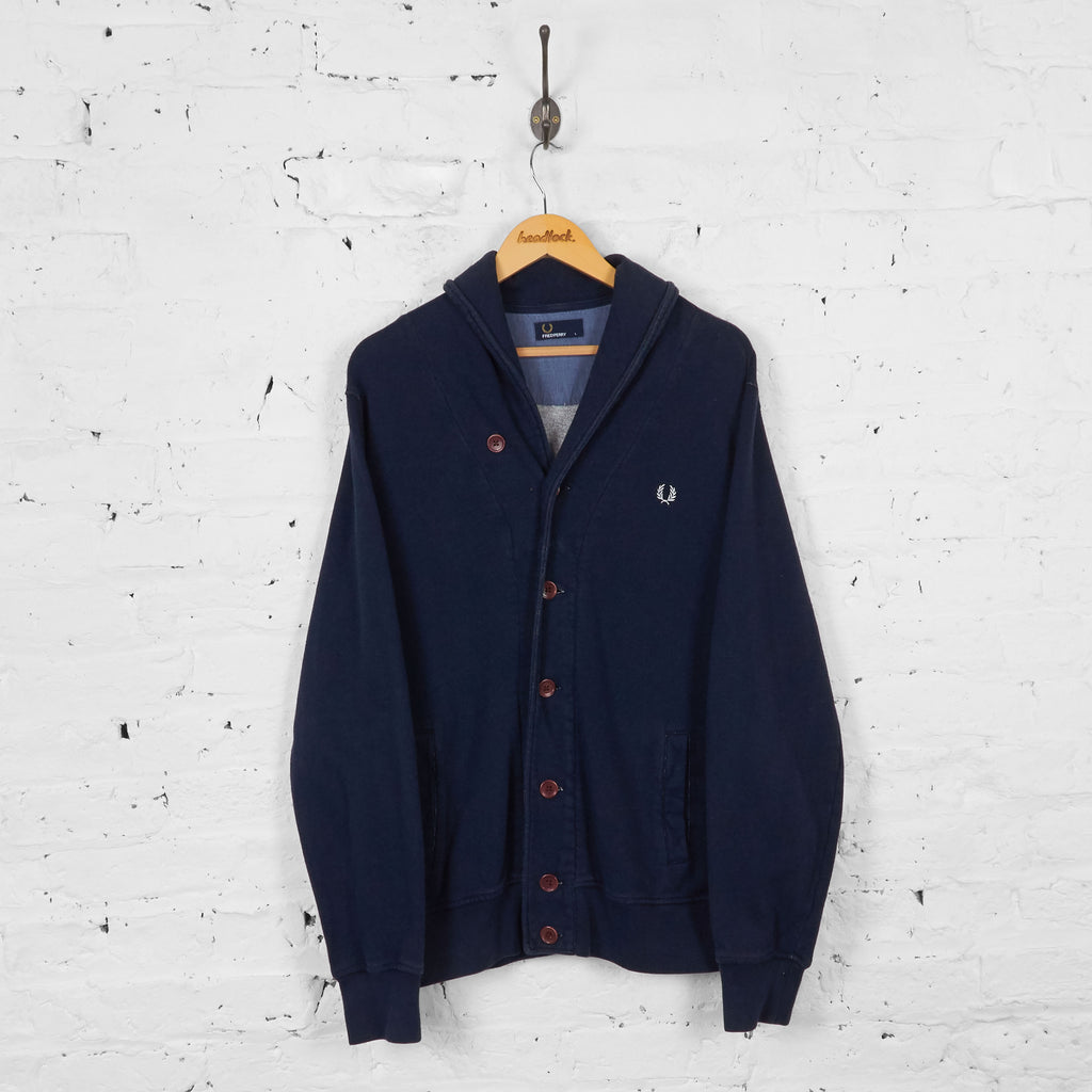 Vintage Fred Perry Cardigan - Navy - L