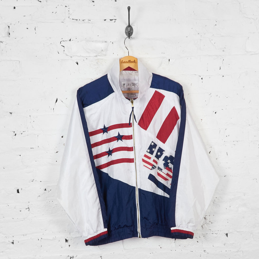 Vintage USA Windbreaker Jacket - White - L