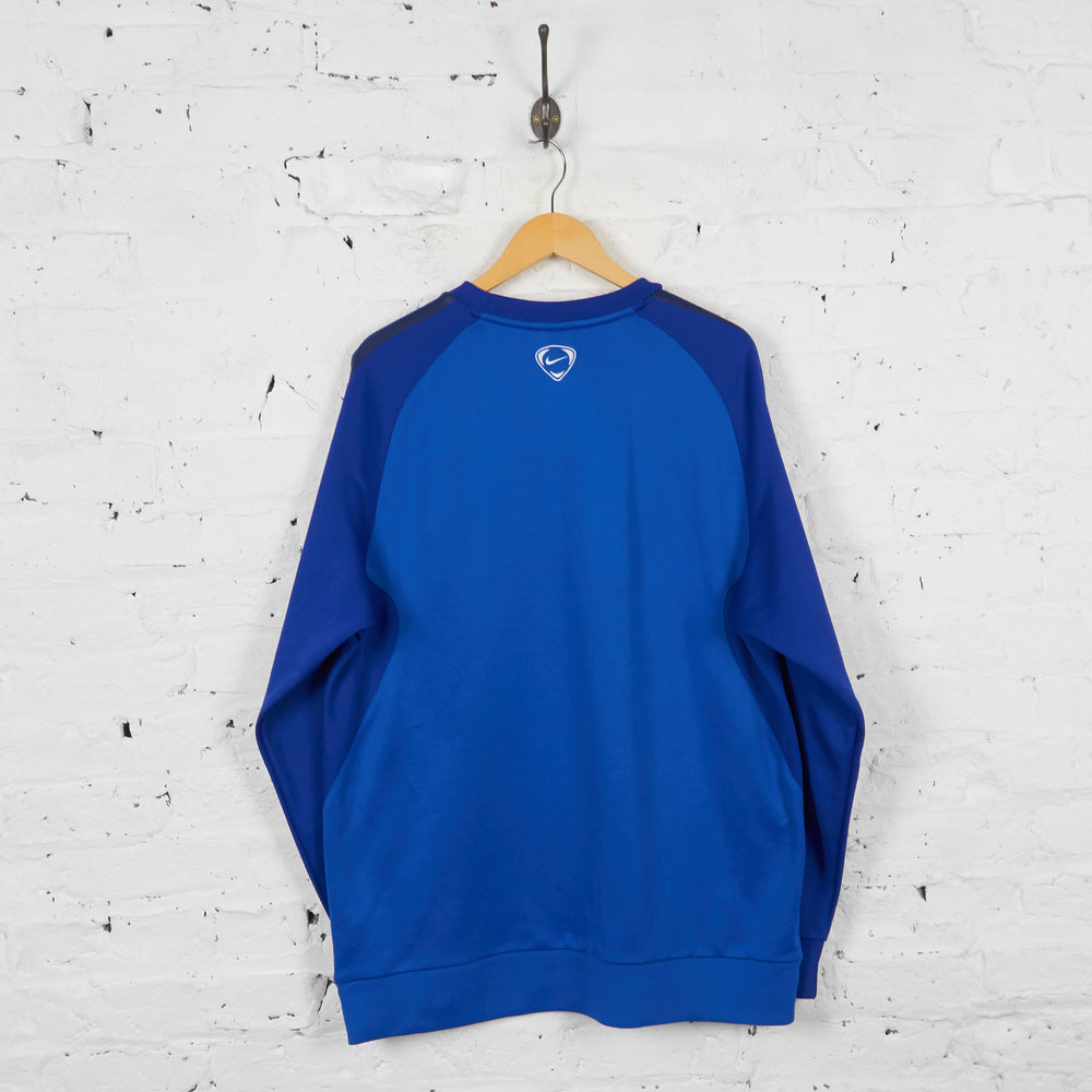 Vintage Nike Dri-Fit Sweatshirt - Blue - XL