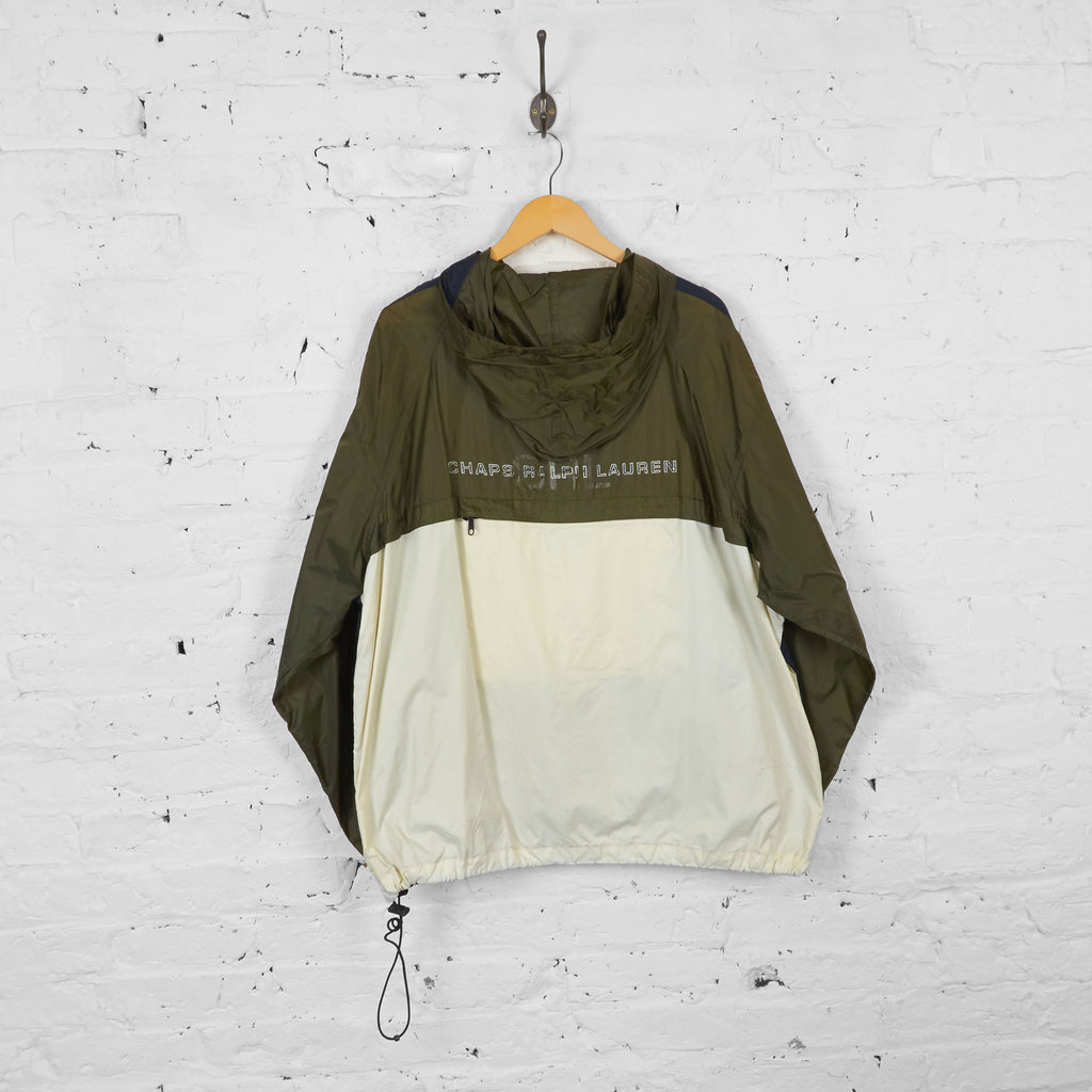 Vintage Ralph Lauren Chaps Waterproof Zip Up Jacket - Khaki/Navy/Cream - XL