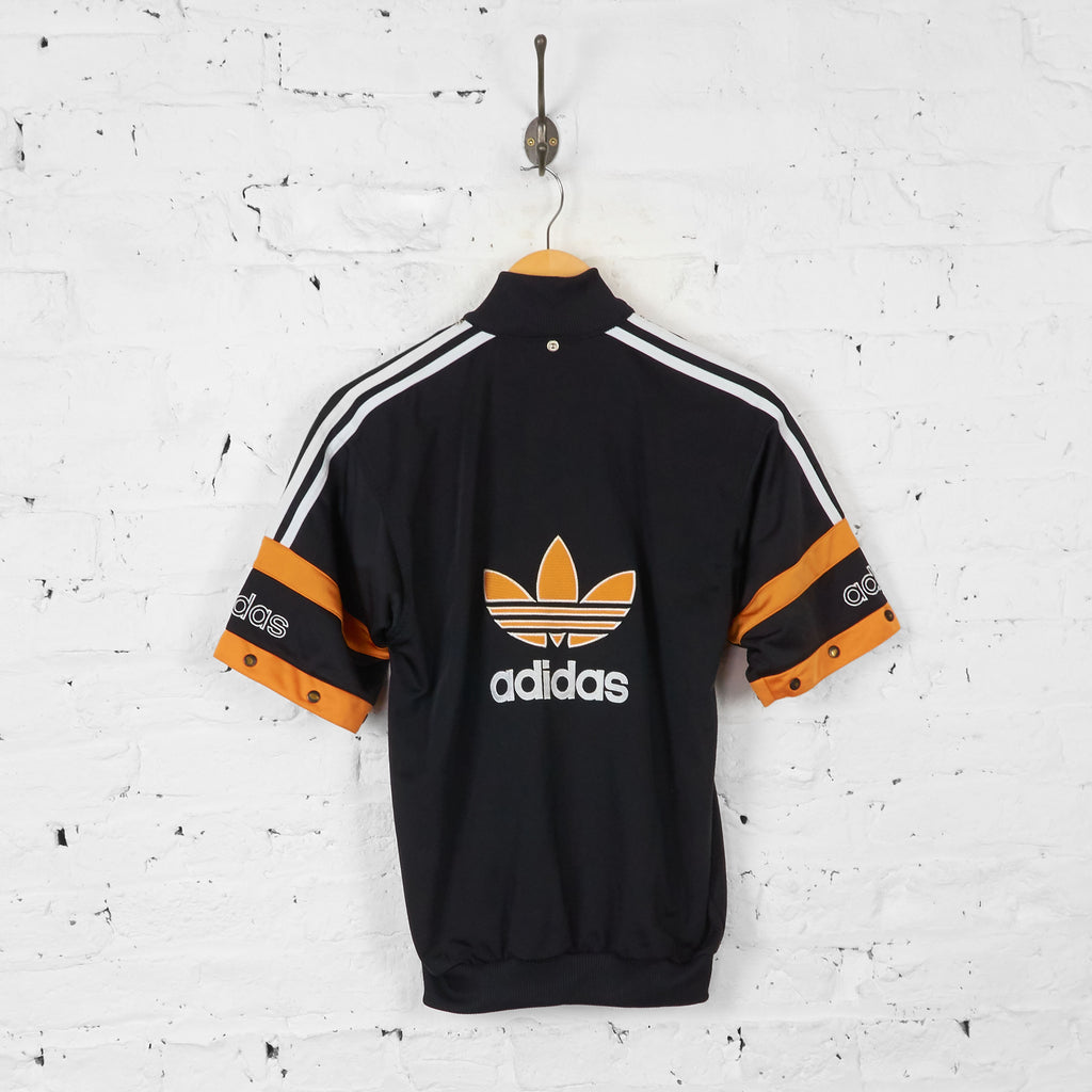 Vintage Short Sleeved Tracksuit Top - Black/Yellow - M