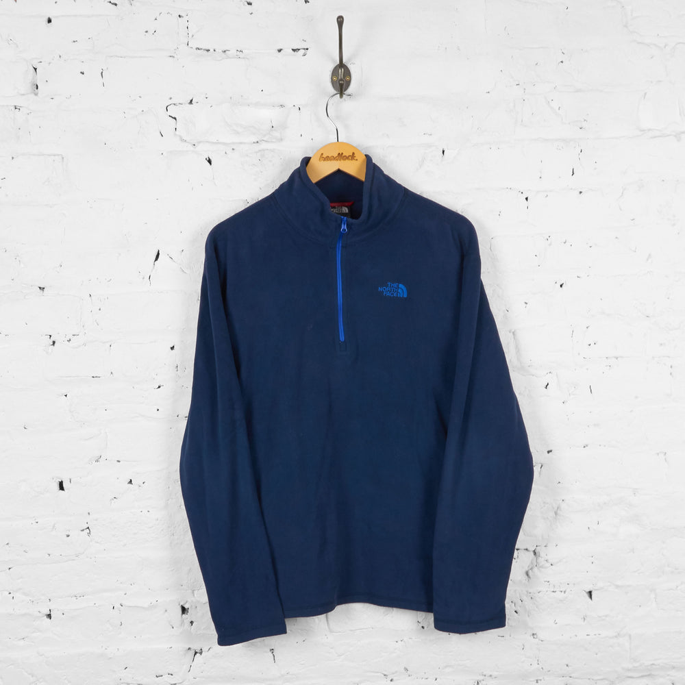 Vintage The North Face 1/4 Zip Fleece - Navy - M