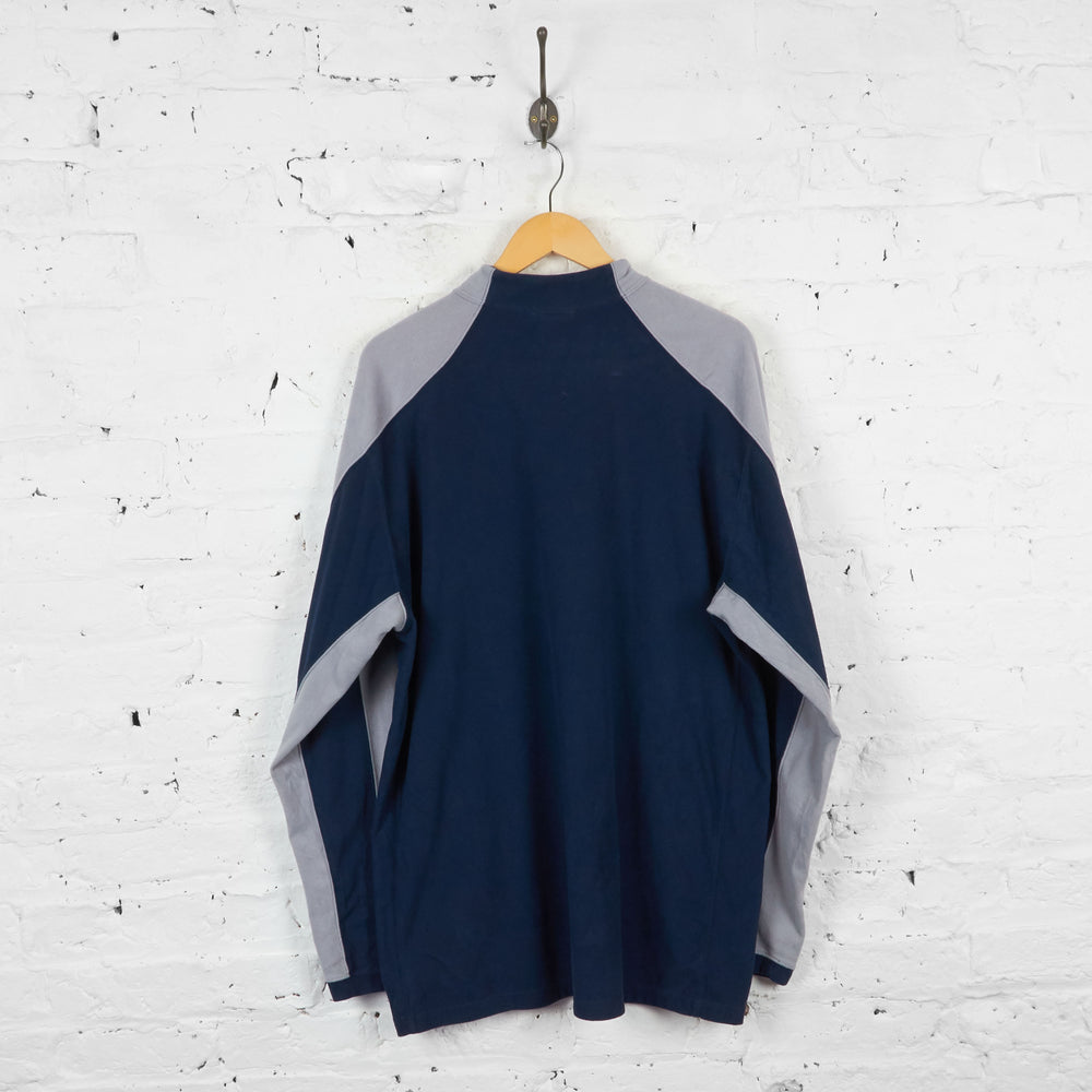 Vintage The North Face 1/4 Zip Fleece - Navy/Grey - XXL