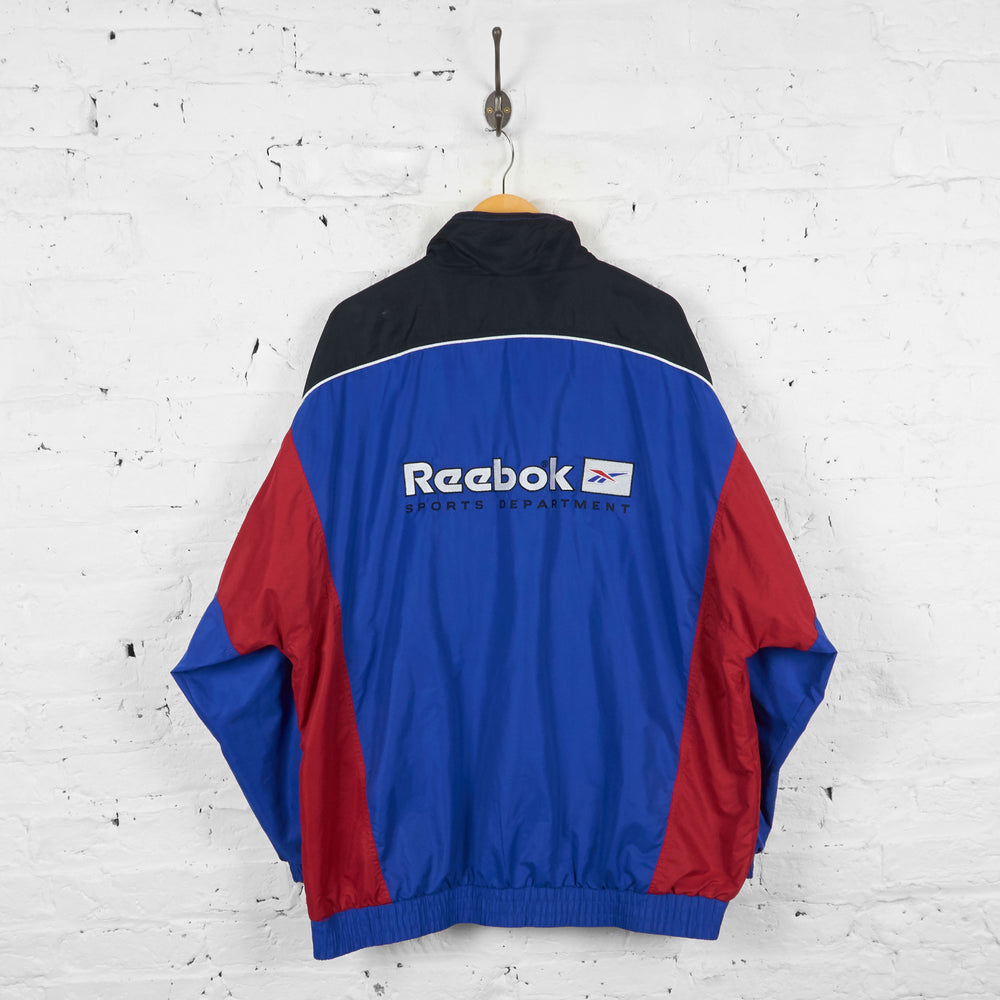 Vintage Reebok Shell Jacket - Blue/Red/Black - XXL