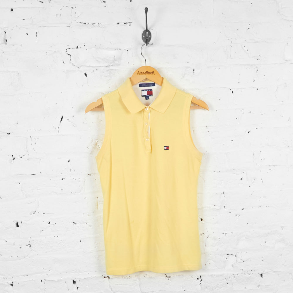 Vintage Sleeveless Tommy Hilfiger Polo Shirt - Yellow - L