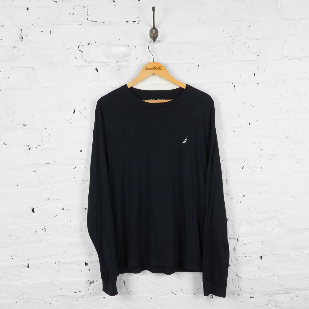 Vintage Nautica Long Sleeved T-shirt - Black - L