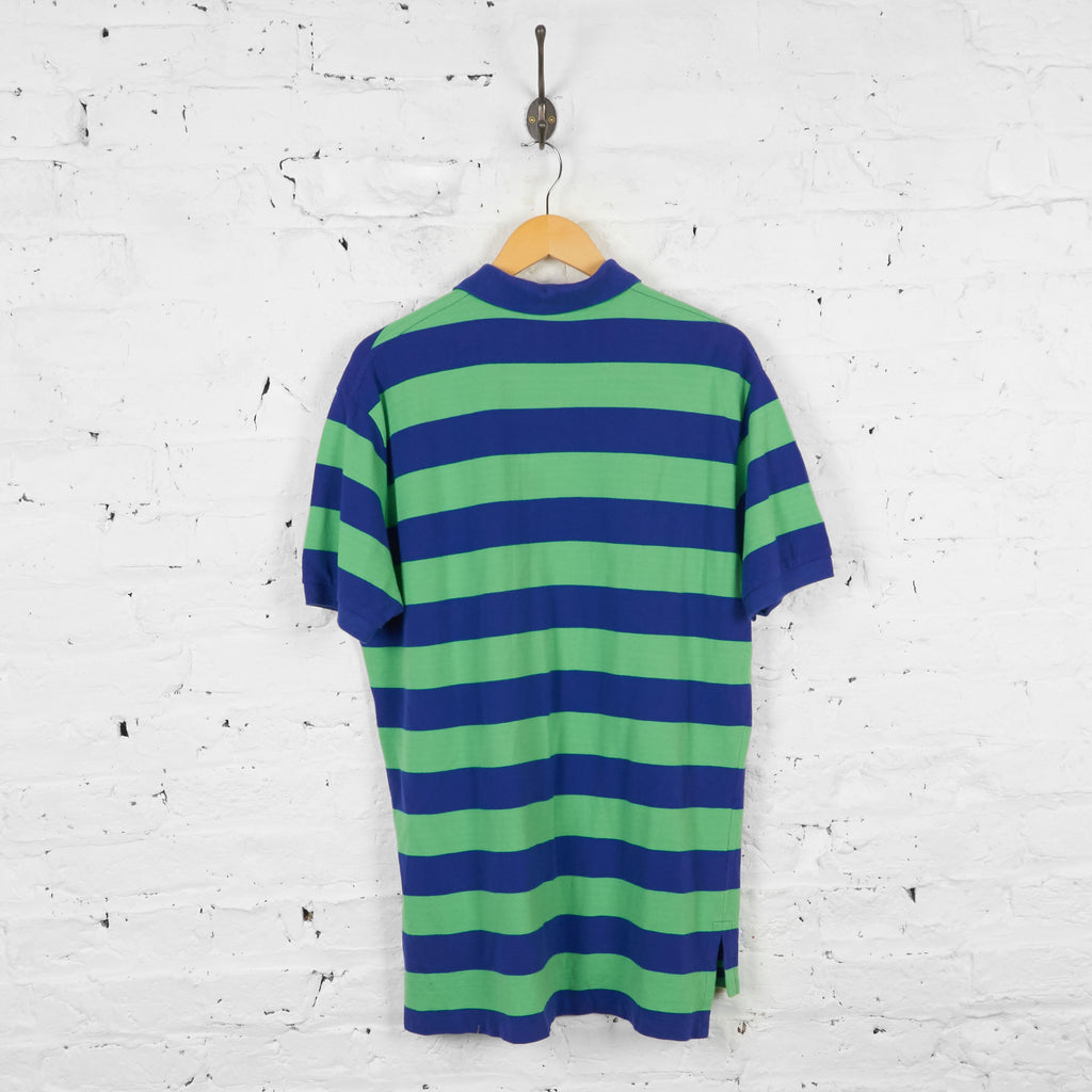 Vintage Striped Ralph Lauren Polo Shirt - Blue/Green - L