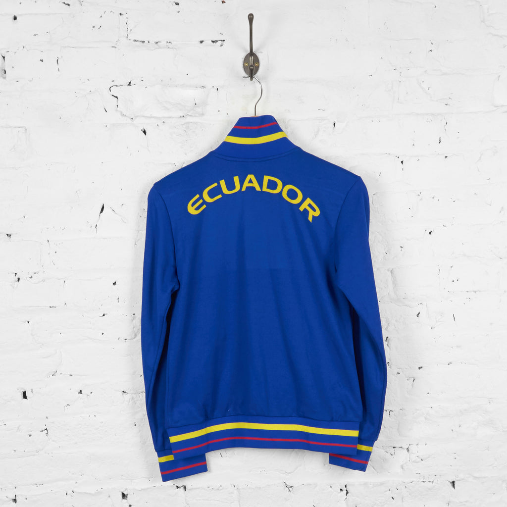 Vintage Ecuador Football Tracksuit Top Jacket - Blue - S