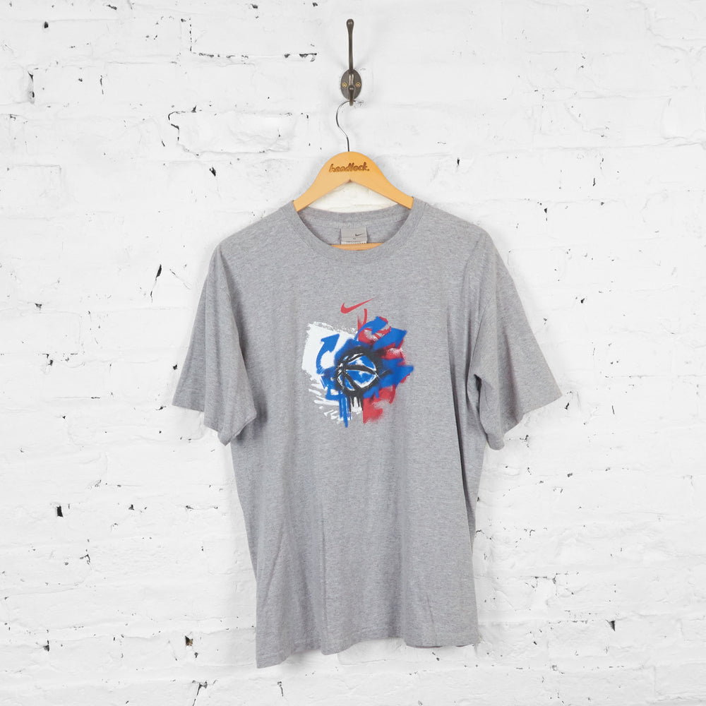 Vintage Nike Graffiti T-shirt - Grey - M