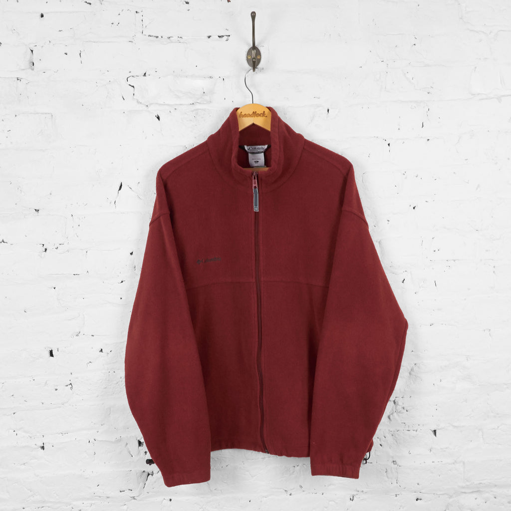 Vintage Columbia Fleece - Burgundy - XL