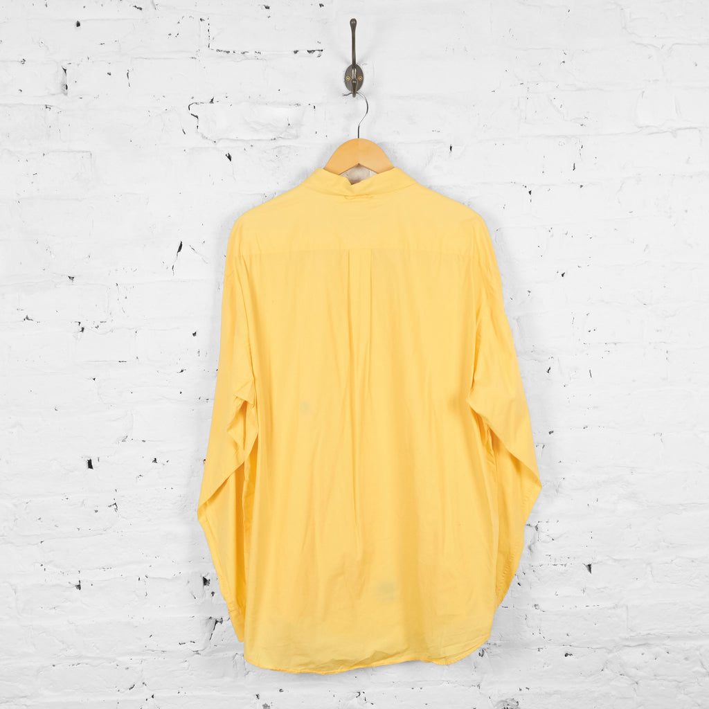 Vintage Tommy Hilfiger Shirt - Yellow - XL
