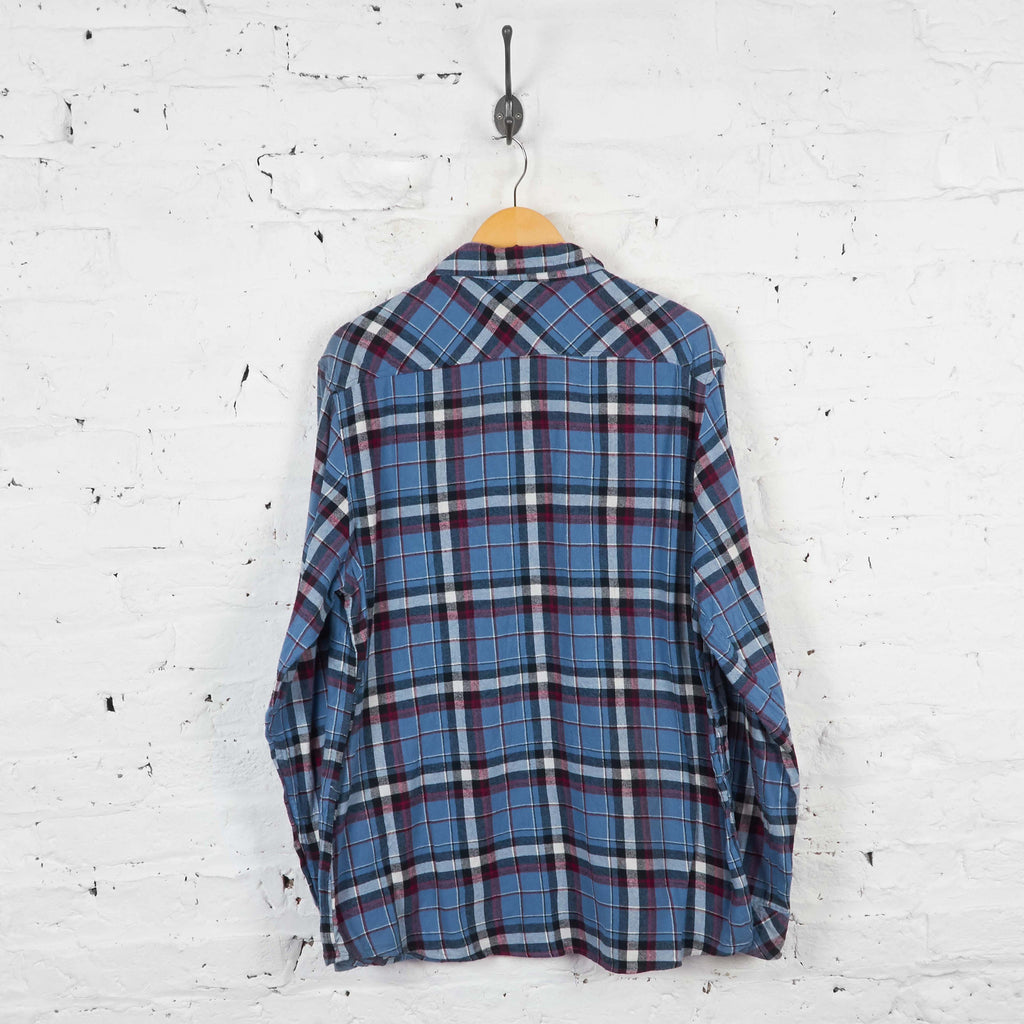 Vintage Dickies Plaid Shirt - Blue - XL