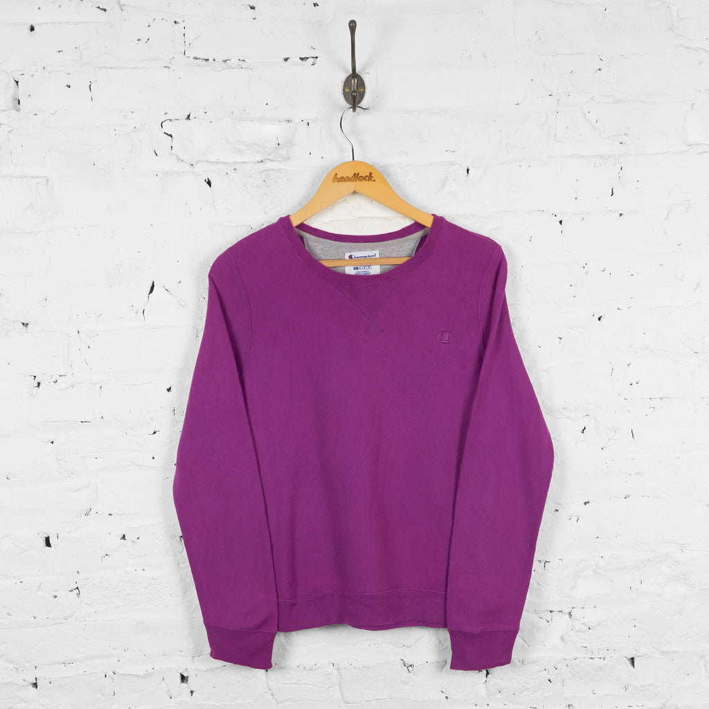 Vintage Women's Champion Sweatshirt - Purple - M