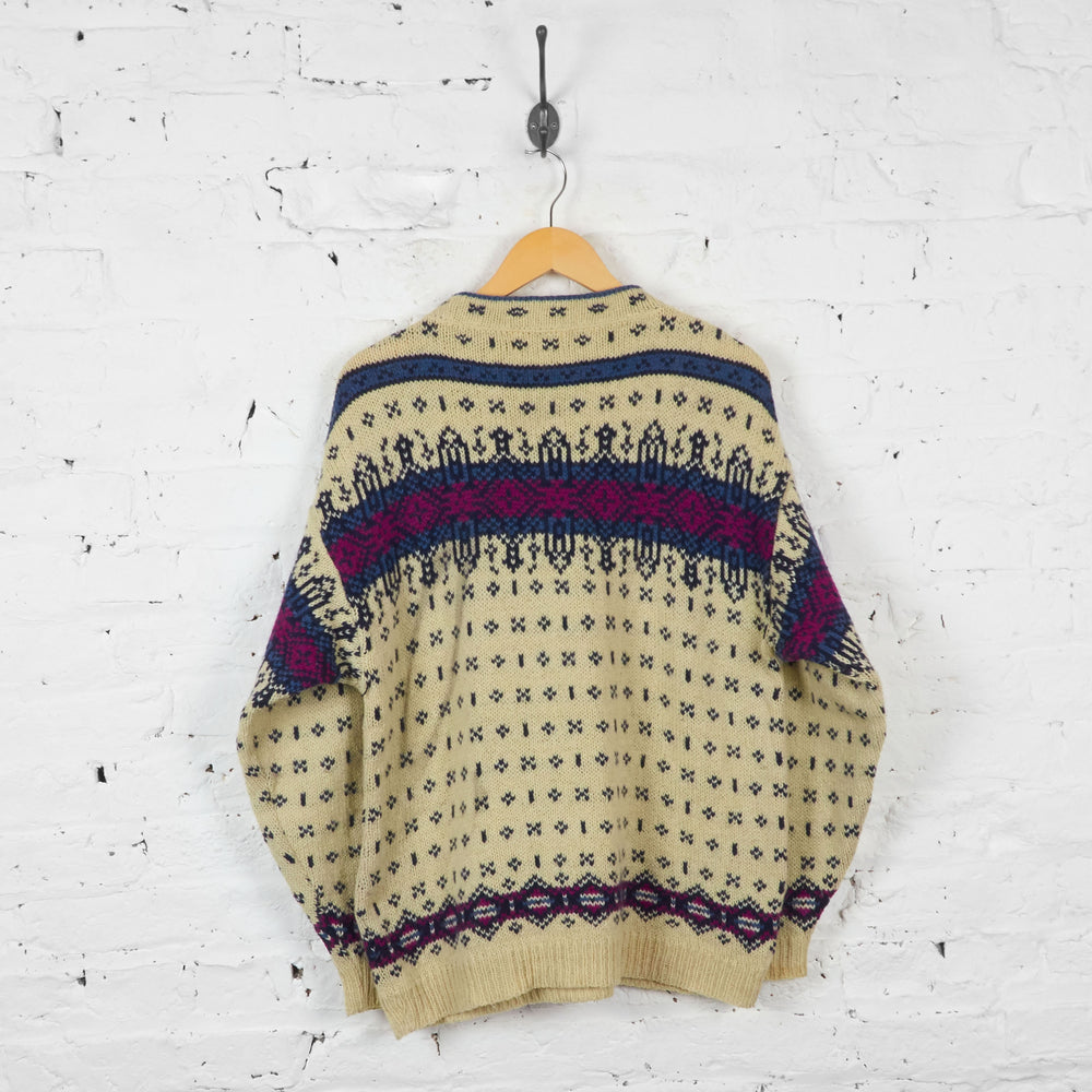 Vintage L.L Bean Patterned Jumper - Beige - L