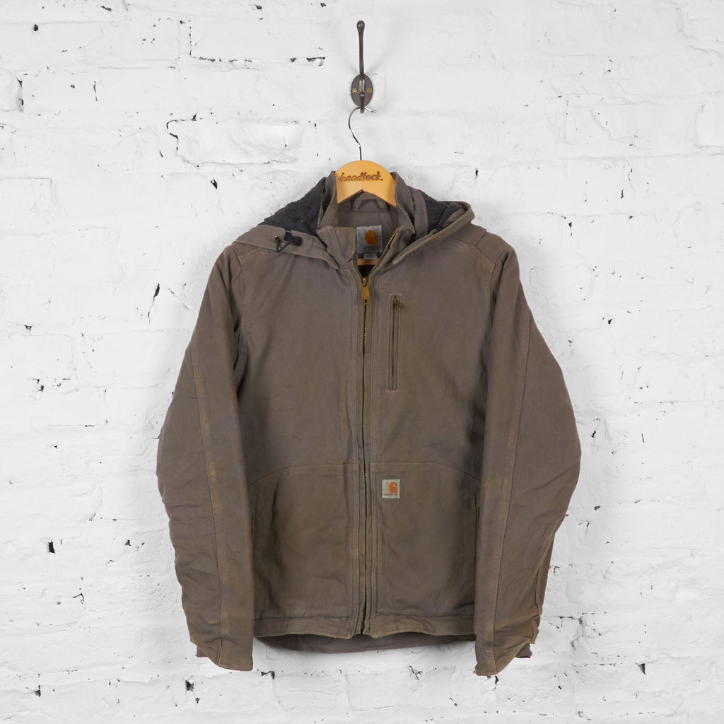 Vintage Hooded Carhartt Jacket - Grey - XS
